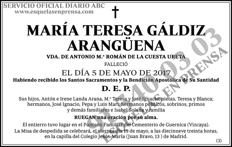 María Teresa Gáldiz Arangüena